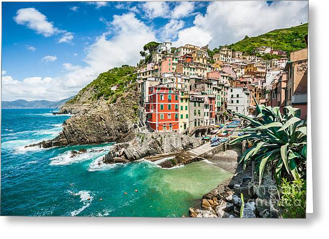 Monterosso Greeting Cards - Colors of Cinque Terre Greeting Card by JR Photography