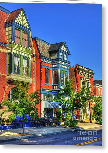 Main Street Greeting Cards - Colors Of Covington 2 Greeting Card by Mel Steinhauer