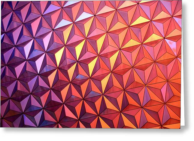 Epcot Greeting Cards - Colors of Epcot Greeting Card by David Lee Thompson