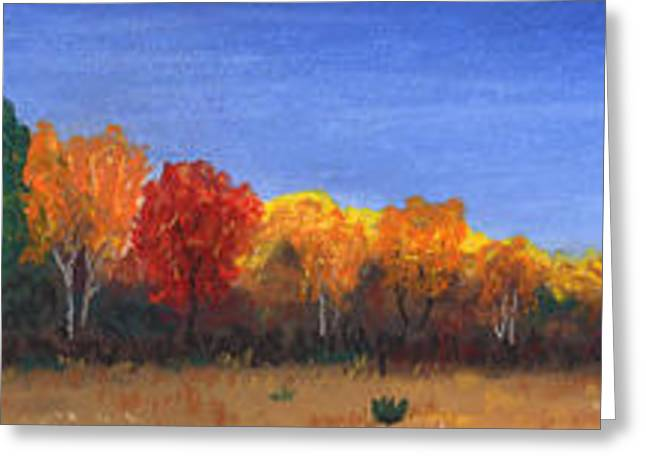 Fall Colors Pastels Greeting Cards - Colors of Fall Greeting Card by George Burr