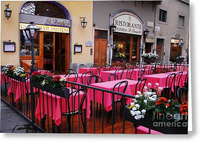 Italian Restaurant Greeting Cards - Colors Of Italy 2 Greeting Card by Mel Steinhauer