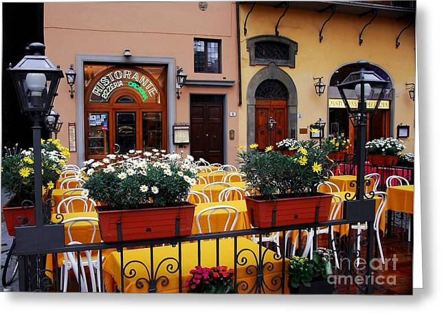 Italian Restaurant Greeting Cards - Colors Of Italy Greeting Card by Mel Steinhauer