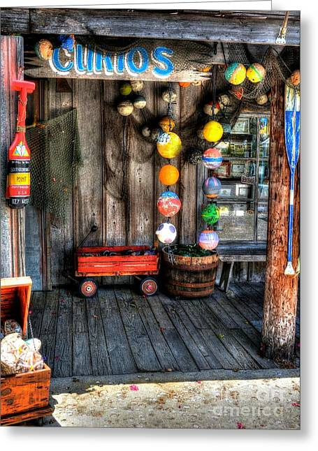 Wagon Mixed Media Greeting Cards - Colors Of Key West 5 Greeting Card by Mel Steinhauer