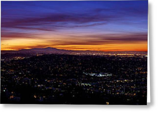 Panoramic Photographs Greeting Cards - Colors Of LA Greeting Card by Metro DC Photography