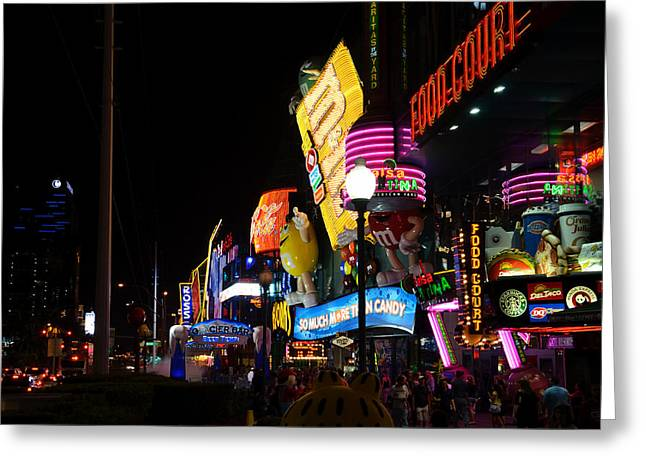 Colors Of Las Vegas Greeting Card by RicardMN Photography