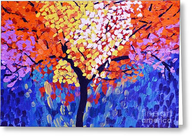 Colors Of Life Greeting Card by Jyoti Vats
