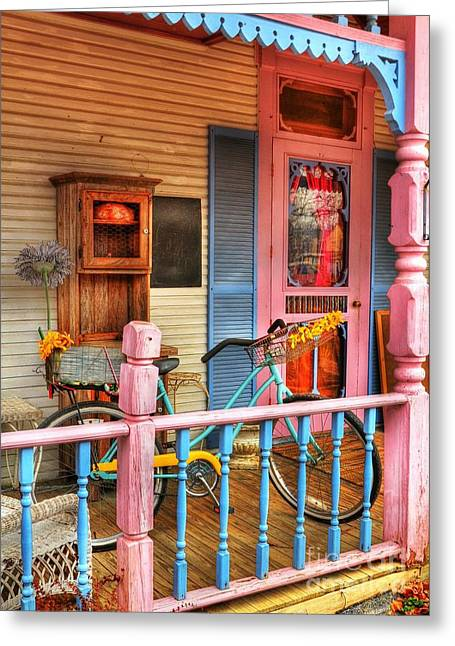 Indiana Scenes Greeting Cards - Colors Of Metamora 1 Greeting Card by Mel Steinhauer