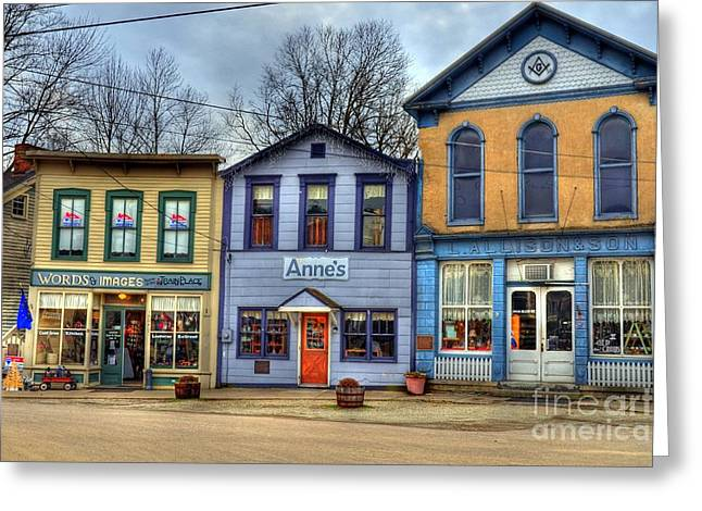 Rural Indiana Photographs Greeting Cards - Colors Of Metamora 2 Greeting Card by Mel Steinhauer