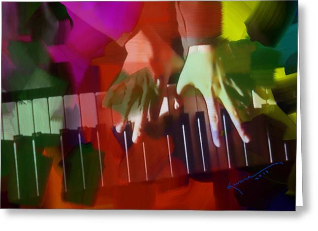 Colors Of Music Greeting Card by Kume Bryant