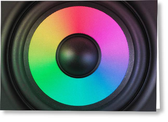 Noise . Sounds Greeting Cards - Colors of Noise Greeting Card by Wim Lanclus