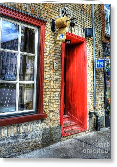 Public Restroom Greeting Cards - Colors Of Quebec 10 Greeting Card by Mel Steinhauer