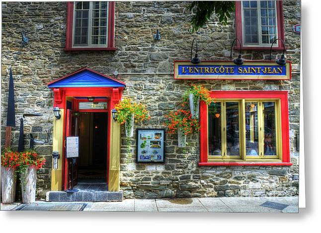 Quebec Restaurants Greeting Cards - Colors Of Quebec 11 Greeting Card by Mel Steinhauer