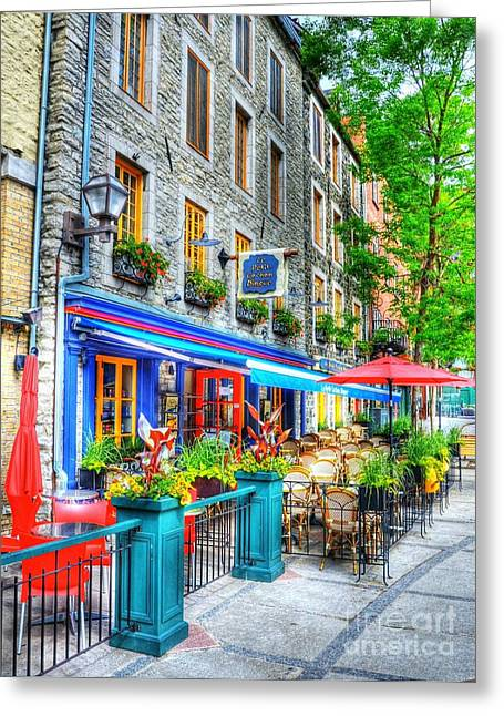Quebec Restaurants Greeting Cards - Colors Of Quebec 14 Greeting Card by Mel Steinhauer