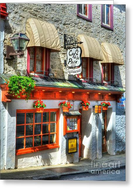 Quebec Restaurants Greeting Cards - Colors Of Quebec 19 Greeting Card by Mel Steinhauer