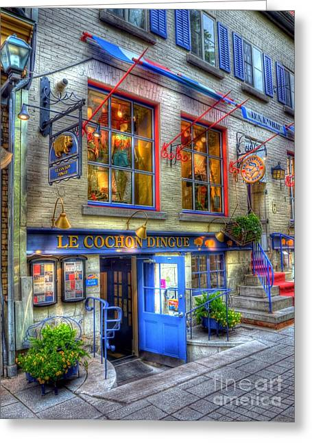 Quebec Restaurants Greeting Cards - Colors Of Quebec 3 Greeting Card by Mel Steinhauer