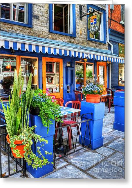 Quebec Restaurants Greeting Cards - Colors Of Quebec 7 Greeting Card by Mel Steinhauer