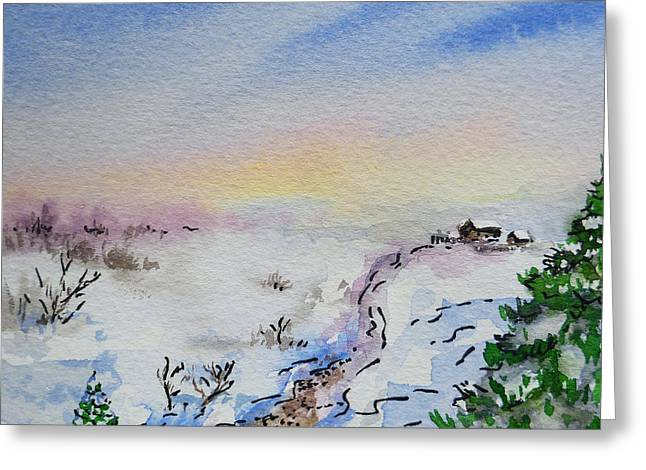 Winter Travel Paintings Greeting Cards - Colors Of Russia Winter Greeting Card by Irina Sztukowski