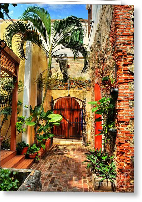 Caribbean Architecture Greeting Cards - Colors Of Saint Thomas 1 Greeting Card by Mel Steinhauer