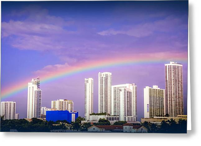 Citiscape Greeting Cards - COLORS of SOUTH BEACH Greeting Card by Karen Wiles
