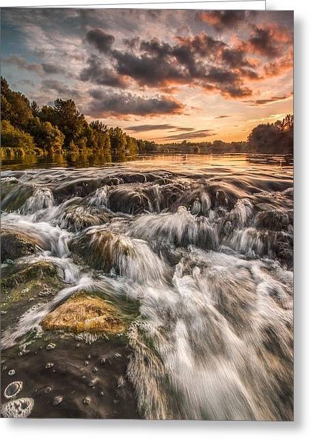 River. Clouds Greeting Cards - Colors of Summer Greeting Card by Davorin Mance