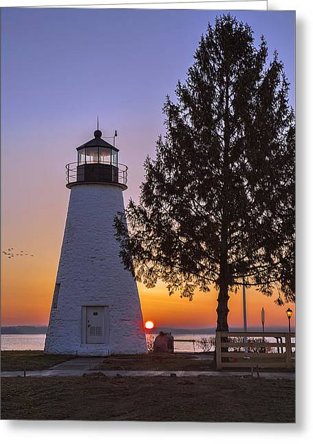 Concord Point Greeting Cards - Colors of Sunrise Greeting Card by Deborah Felmey