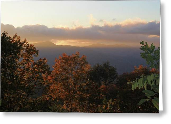 Colors Of Autumn Greeting Cards - Colors Of Sunset Over The Smokies Greeting Card by Dan Sproul