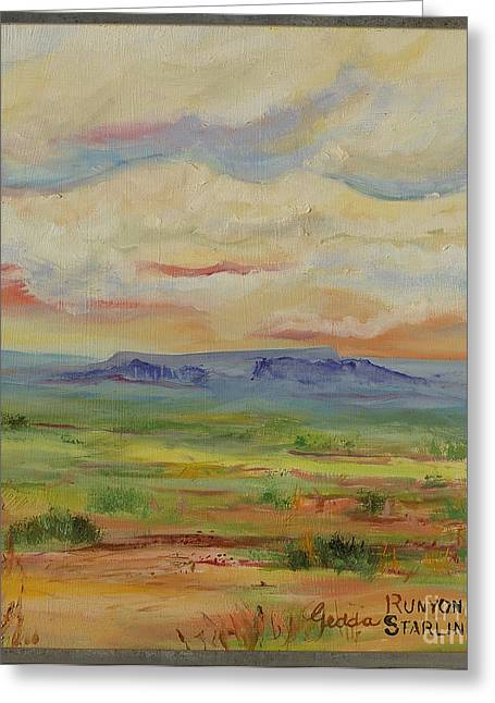Indiana Paintings Greeting Cards - Colors of the Desert Greeting Card by Gedda Runyon Starlin