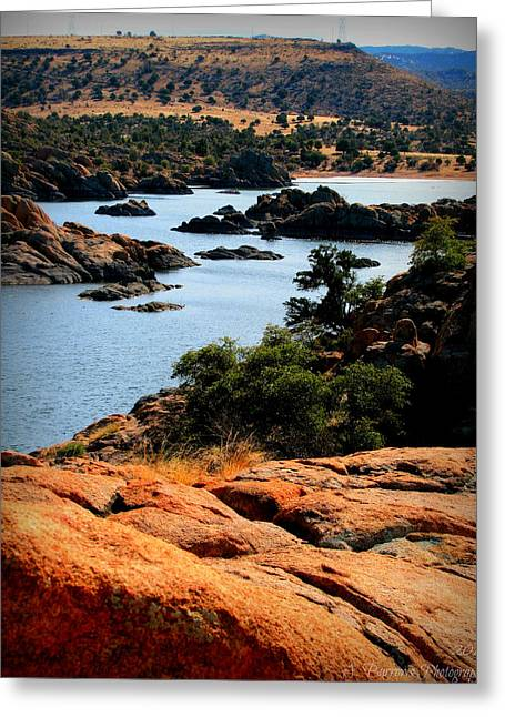 Watson Lake Greeting Cards - Colors of the Lake Greeting Card by Aaron Burrows