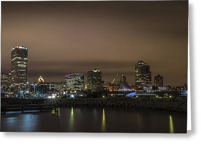 Colors Of The Night Greeting Card by CJ Schmit