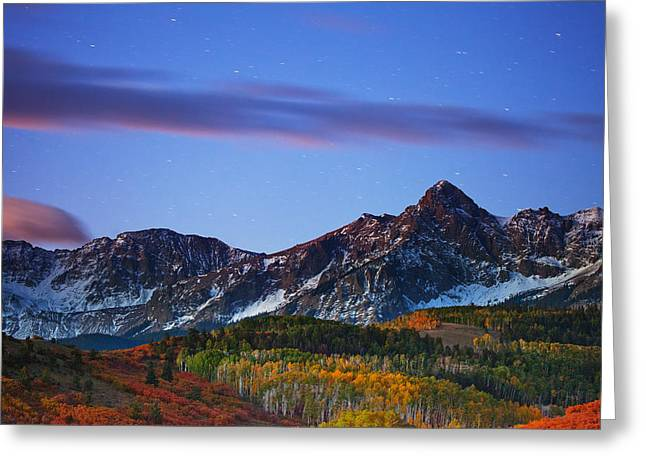 Colors Of The Night Greeting Card by Darren  White