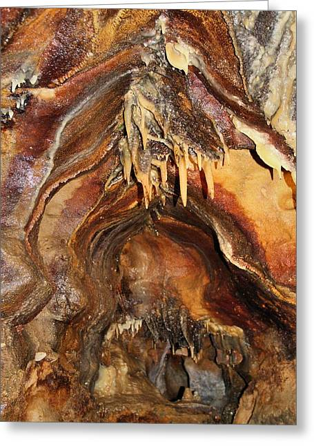 Cavern Greeting Cards - Colors Of The Ohio Caverns Greeting Card by Dan Sproul