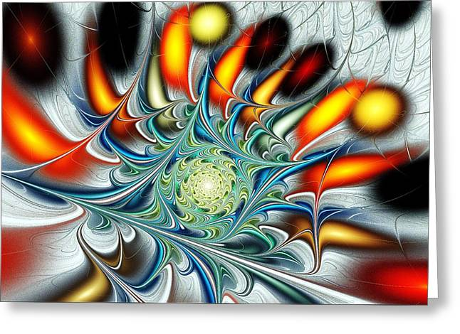 Human Spirit Greeting Cards - Colors of the Spirit Greeting Card by Anastasiya Malakhova