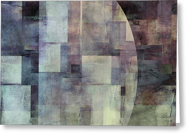Colors Of Twilight Abstract Art Greeting Card by Ann Powell