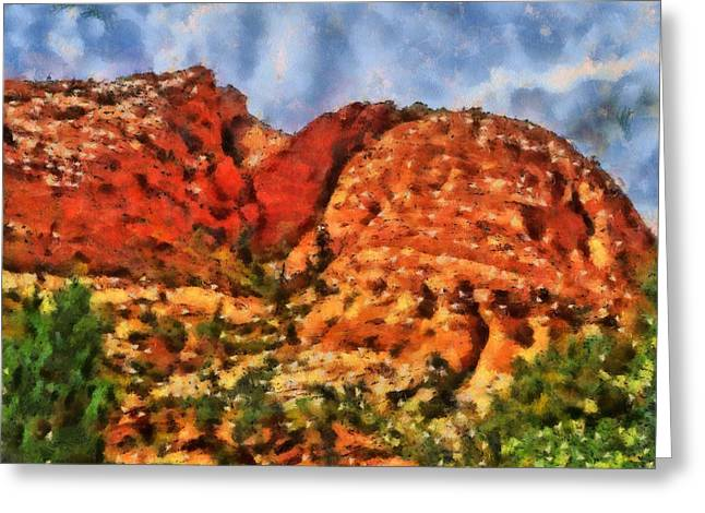 Hiking Mixed Media Greeting Cards - Colors Of Zion Greeting Card by Dan Sproul