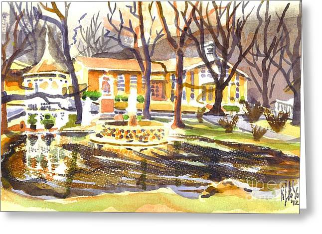 Bucolic Scenes Greeting Cards - Colors on a Cloudy Day Greeting Card by Kip DeVore