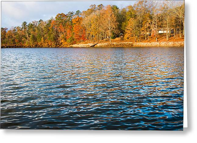 Autumn Photographs Greeting Cards - Colors on the Lake Greeting Card by Parker Cunningham