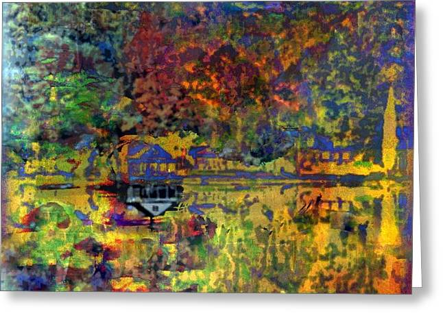 Colors on the Lake Greeting Card by YoMamaBird Rhonda