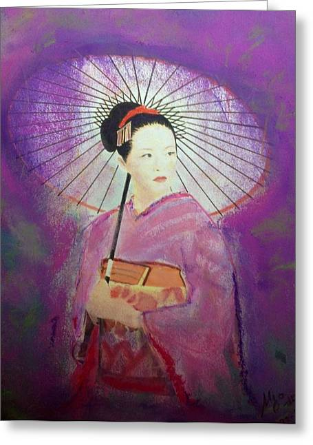 Umbrellas Pastels Greeting Cards - Colors Greeting Card by Ugo Paradiso