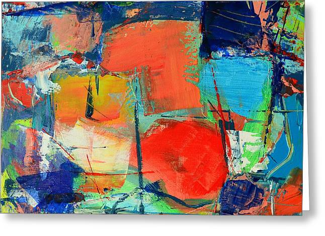 Abstract Forms Greeting Cards - Colorscape Greeting Card by Ana Maria Edulescu