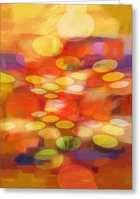 Spheres Paintings Greeting Cards - Colorspheres Greeting Card by Lutz Baar