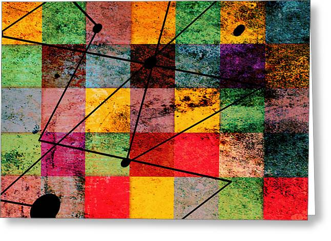 Geometric Shape Greeting Cards - Colorsssss Greeting Card by Mark Ashkenazi
