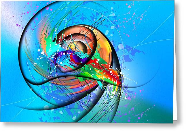 Expressionism Greeting Cards - Colorwave Greeting Card by Franziskus Pfleghart