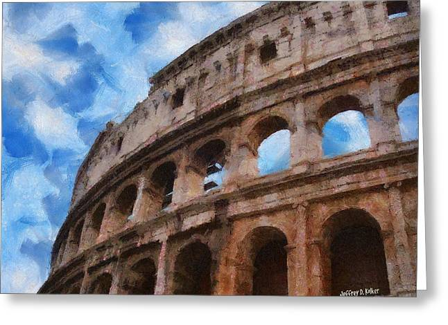 Colosseo Greeting Card by Jeff Kolker