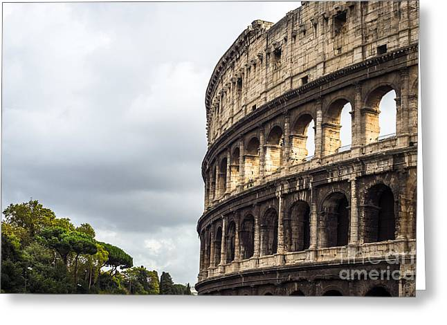 Charly Greeting Cards - Colosseum Closeup Greeting Card by Prints of Italy