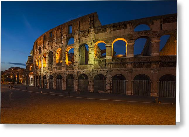 Recently Sold -  - Italian Sunset Greeting Cards - Colosseum Greeting Card by Erik Brede
