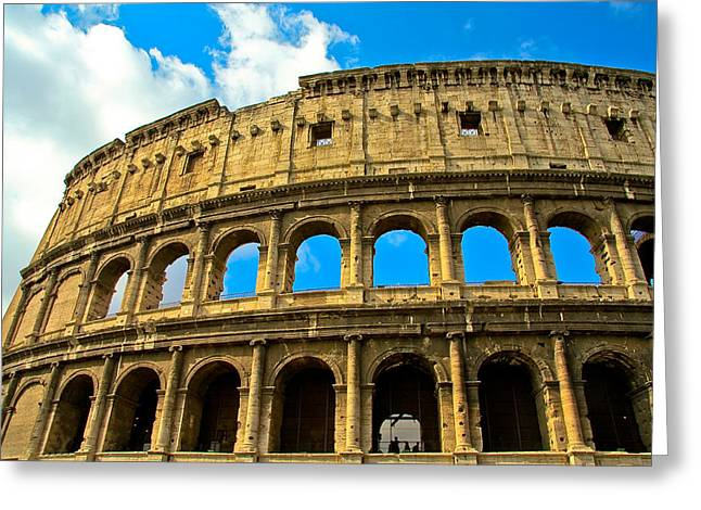Rome Pyrography Greeting Cards - Colosseum Greeting Card by Evgenia Zarubin