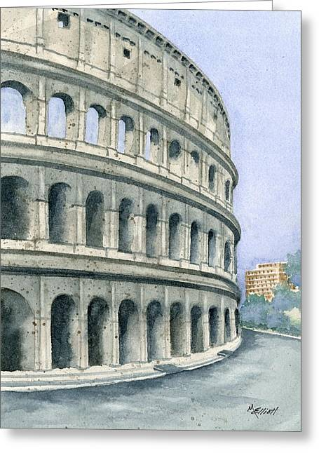 Amphitheater Greeting Cards - Colosseum Greeting Card by Marsha Elliott