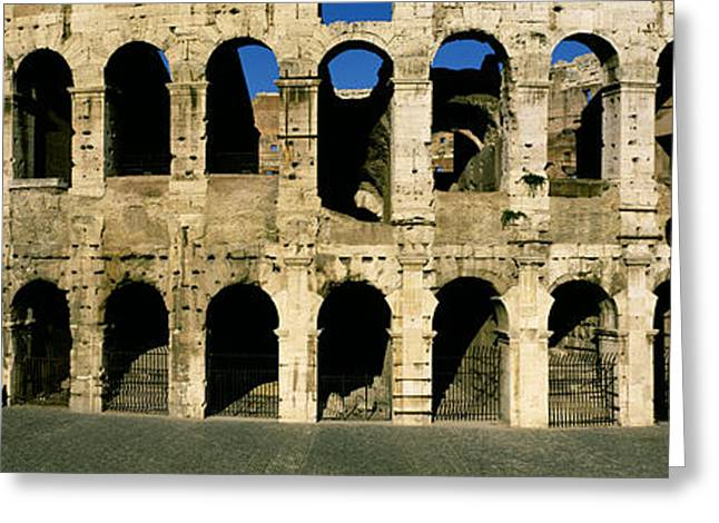 Amphitheater Greeting Cards - Colosseum Rome Italy Greeting Card by Panoramic Images