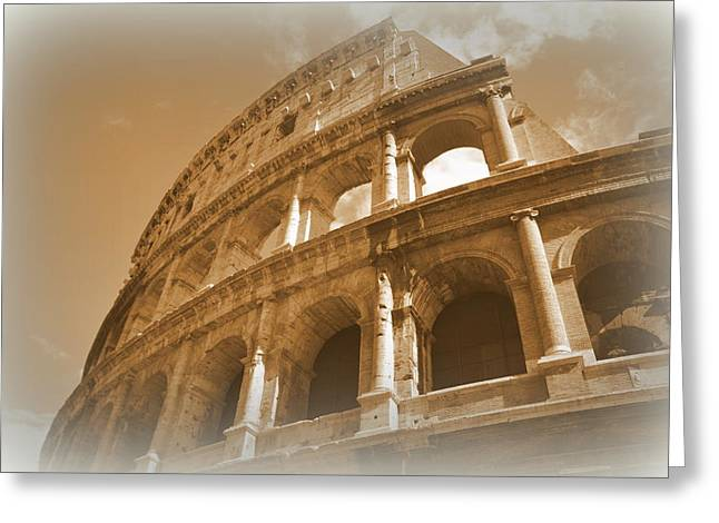 Faa Featured Greeting Cards - Colosseum Greeting Card by Toni Abdnour