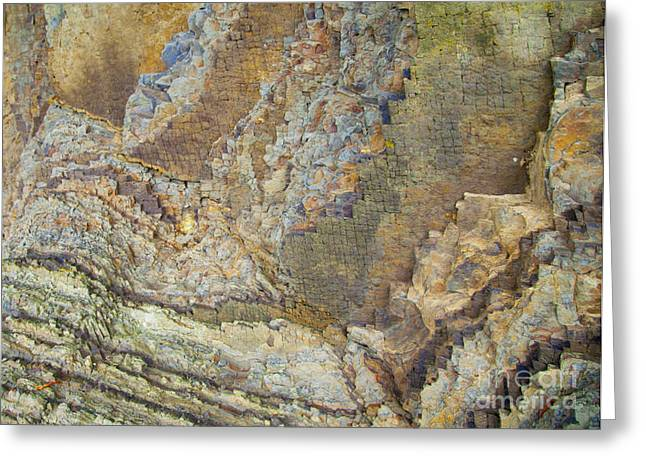 Colour Jagged Rock Greeting Card by Graham Foulkes